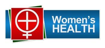 Bandera azulverde roja de la salud para mujer