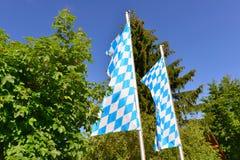 Bandera bávara Imagenes de archivo