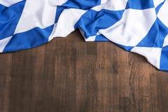 Bandera bávara como fondo para Oktoberfest Foto de archivo libre de regalías
