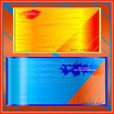 Bandera bajo texto con la textura de madera Imágenes de archivo libres de regalías