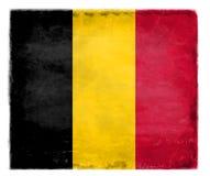 Bandera belga destruida foto de archivo libre de regalías