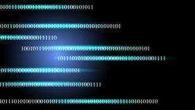 Bandera binaria de la tecnología Fondo de la tecnolog?a del asunto stock de ilustración