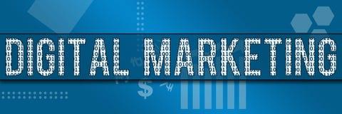 Bandera binaria del negocio del márketing de Digitaces Fotografía de archivo libre de regalías
