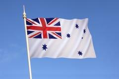 Bandera blanca australiana - marina de guerra australiana real Fotografía de archivo libre de regalías