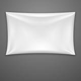 Bandera blanca de la materia textil. Ejemplo del vector