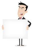 Bandera blanca del hombre de negocios Imagenes de archivo