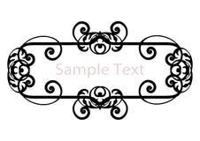 Bandera blanco y negro de la silueta simple Fotografía de archivo libre de regalías