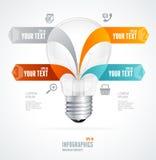 Bandera brillante moderna de la flecha de las opciones del infographics libre illustration