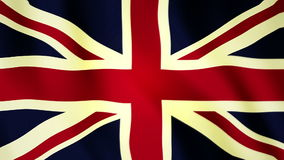 Bandera británica de plena pantalla FHD almacen de video