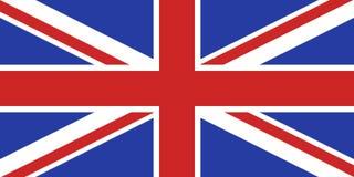 Bandera BRITÁNICA exacta stock de ilustración