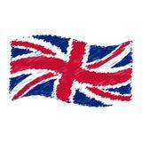 Bandera BRITÁNICA - Union Jack - el bosquejar del dibujo de lápiz del grunge Foto de archivo libre de regalías