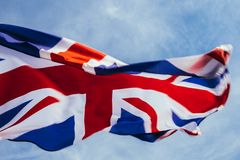 Bandera brit?nica imágenes de archivo libres de regalías