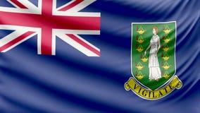 Bandera británica 4k de las Islas Vírgenes hermosas realistas metrajes