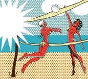 Bandera cómica del fondo del deporte Imágenes de archivo libres de regalías