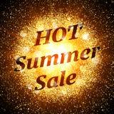 Bandera caliente de la venta del verano Explosión abstracta Imagen de archivo