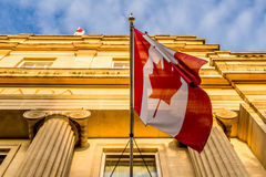 Bandera canadiense Fotografía de archivo libre de regalías