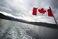 Bandera canadiense Fotos de archivo