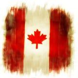 Bandera canadiense Foto de archivo libre de regalías