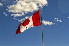 Bandera canadiense Fotografía de archivo
