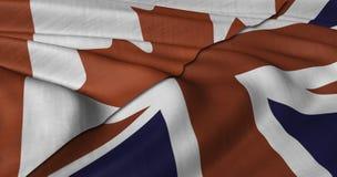 Bandera canadiense y BRITÁNICA Imágenes de archivo libres de regalías