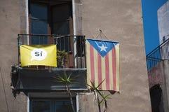 Bandera catalana de la independencia Imagen de archivo libre de regalías