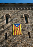 Bandera catalana, España Imagen de archivo libre de regalías