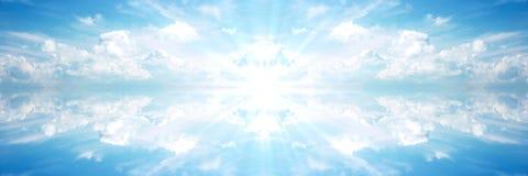 Bandera celeste Sun 2 Imagenes de archivo