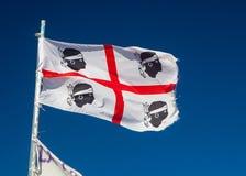 Bandera Cerdeña imágenes de archivo libres de regalías