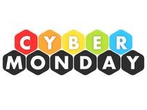Bandera cibernética de lunes stock de ilustración