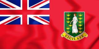 bandera civil 3D de los British Virgin Islands Imágenes de archivo libres de regalías