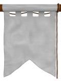 Bandera colgante blanca, tipo 3 Imagenes de archivo