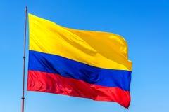 Bandera colombiana Imágenes de archivo libres de regalías