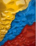 Bandera colombiana de nubes del humo, ejemplo del vector ilustración del vector