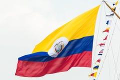 Bandera colombiana - vela Amsterdam 2015 Fotos de archivo libres de regalías