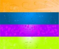 Bandera coloreada cuatro del grunge libre illustration