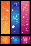 Bandera colorida Fotografía de archivo libre de regalías