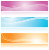 Bandera colorida stock de ilustración