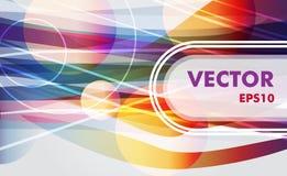 Bandera colorida ilustración del vector