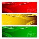 Bandera colorida Imagen de archivo libre de regalías