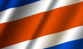 Bandera colorida auténtica de Costa Rica libre illustration