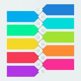 Bandera colorida de Infographic numerada pasos 1 a 10 stock de ilustración