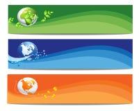 Bandera colorida de la naturaleza y del mundo Fotos de archivo libres de regalías