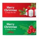 Bandera colorida de la Navidad Imágenes de archivo libres de regalías
