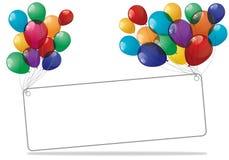 Bandera colorida de los globos - ejemplo Fotos de archivo