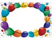 Bandera colorida de los globos - ejemplo Fotos de archivo libres de regalías