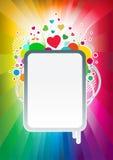 Bandera colorida del amor Foto de archivo