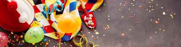 Bandera colorida del carnaval con el espacio de la copia Fotos de archivo
