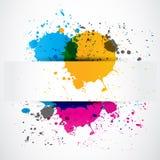 Bandera colorida del papel del grunge del chapoteo stock de ilustración