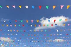 Bandera colorida del triángulo Fotos de archivo