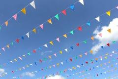 Bandera colorida del triángulo Fotografía de archivo